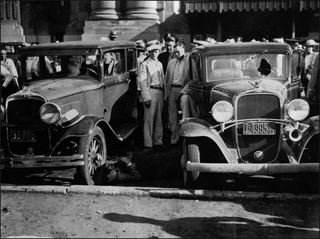 Scene in Front of the Railroad Depot Moments after the Kansas City Massacre