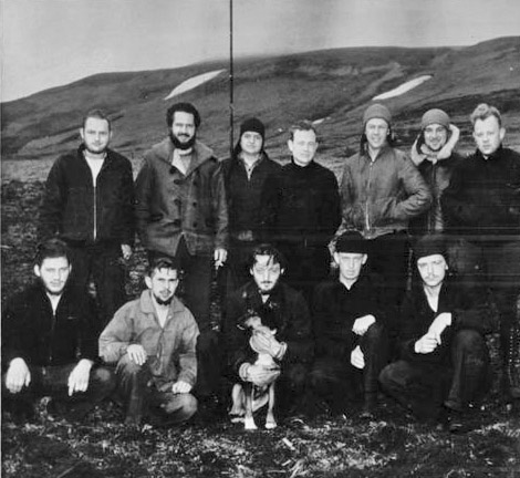 The team that was present on Kiska Island prior to the Japanese' arrival.