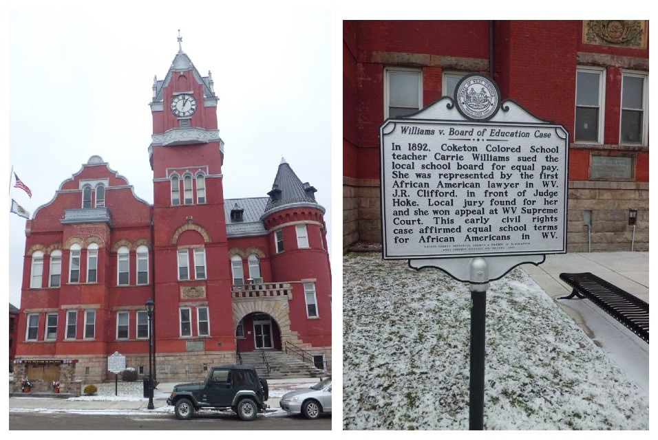 This historic marker near the Tucker County Courthouse shares the history of the landmark decision.