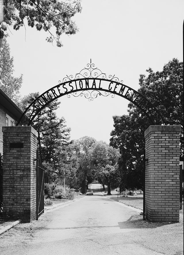 The gate of the Congressional Cemetery.