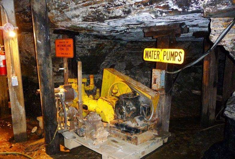 The tour takes users 1500 feet into a historic coal mine.
