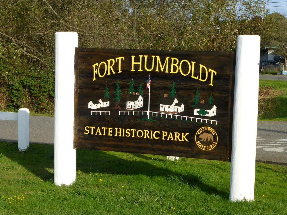 Sign at the entrance of the park