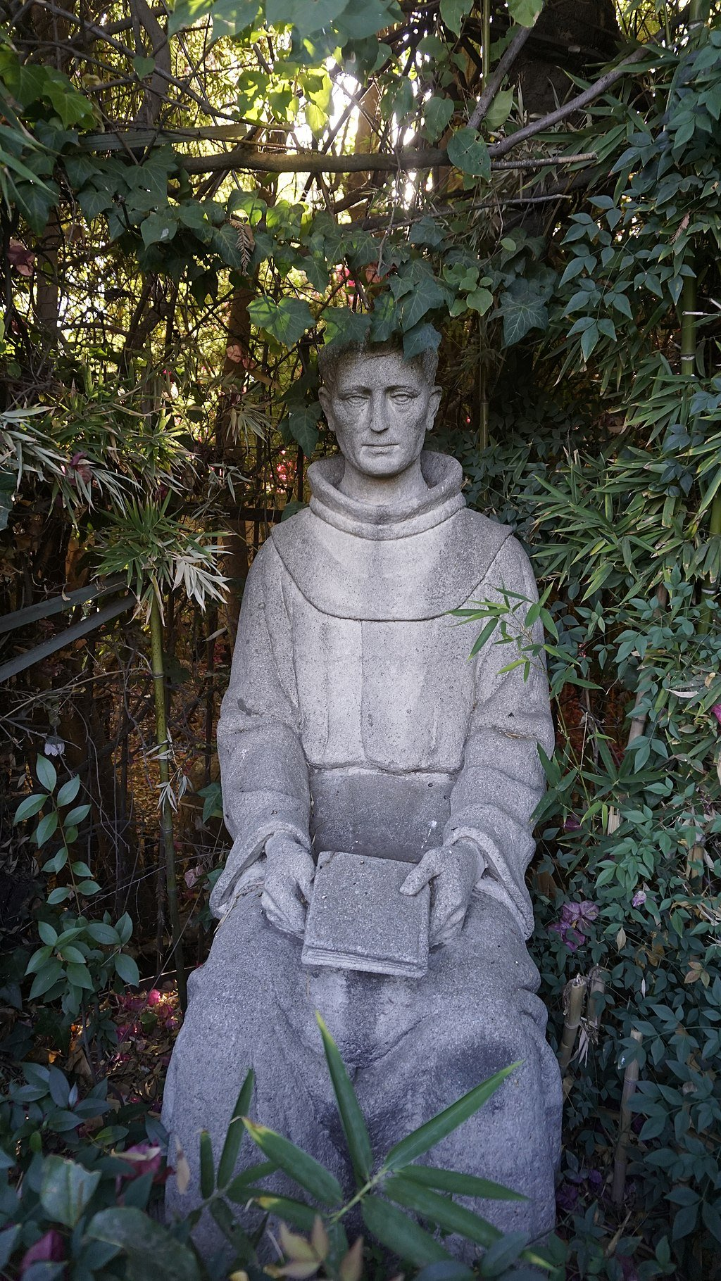 A statue of Father Presidente Fermin Lasuen, who consecrated San Juan Bautista, at Mission San Fernando.