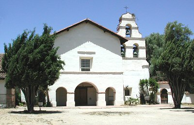 San Juan Bautista chapel and bell tower.