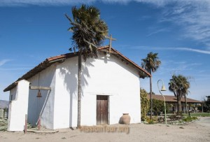 The original mission church has been restored, along with the old padres' quarters.
