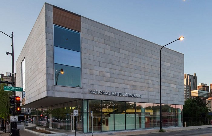 The National Hellenic Museum was established in 1983. The current building was opened in 2011 in Chicago's Greektown district. Image obtained from Greek Reporter.