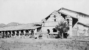 Mission ruins in the 1870s.