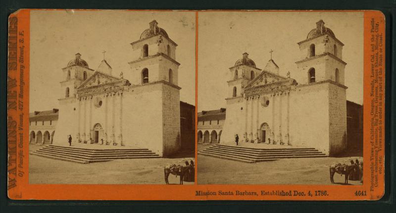 1870 photos of Mission Santa Barbara.
