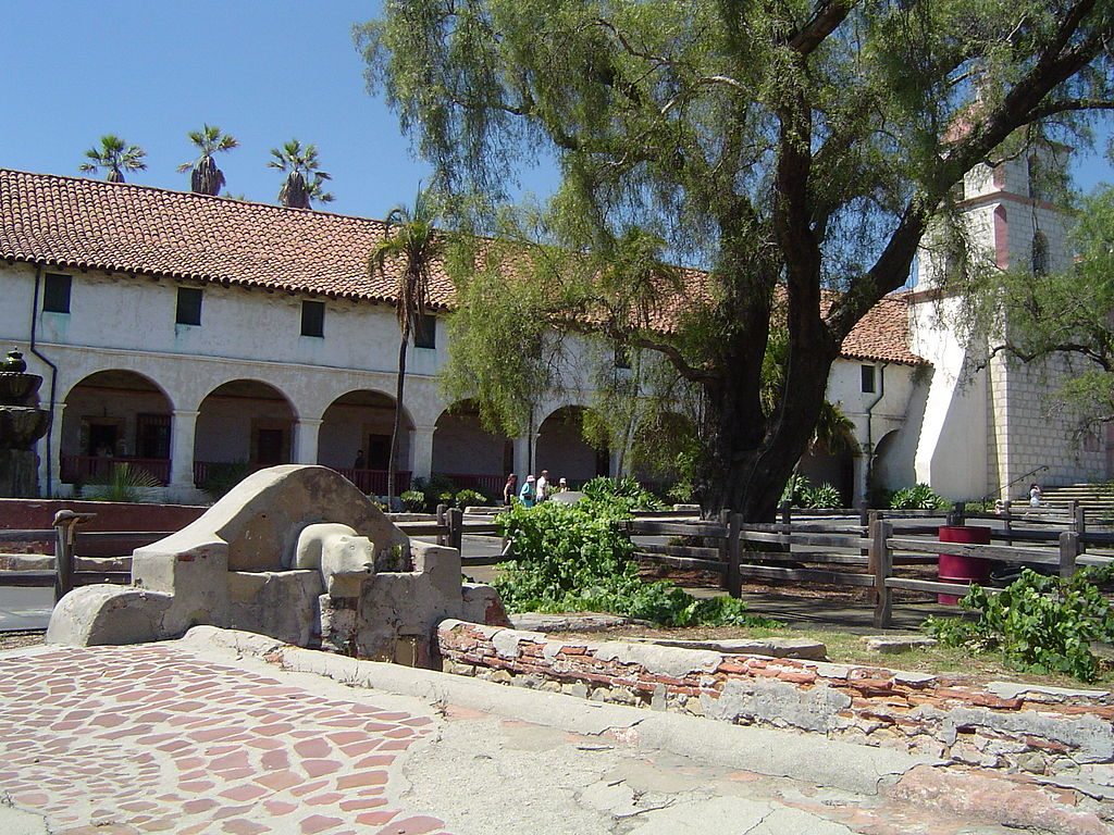 Fountain and lavadero built by Chumash Indians in 1806.