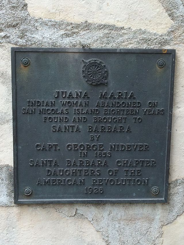 Memorial plaque to Juana Maria.