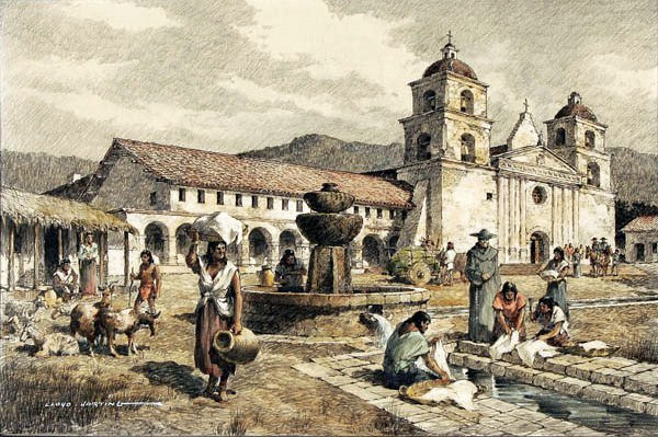 How the mission may have appeared in the 1830s/1840s.