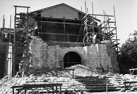 Reconstruction of mission following the 1925 quake