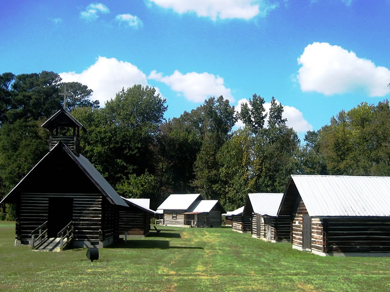 The five acre complex is located on the land that was once home to the Pitt County Home farm. Most of the buildings in the complex were built in the 19th or early 20th century.