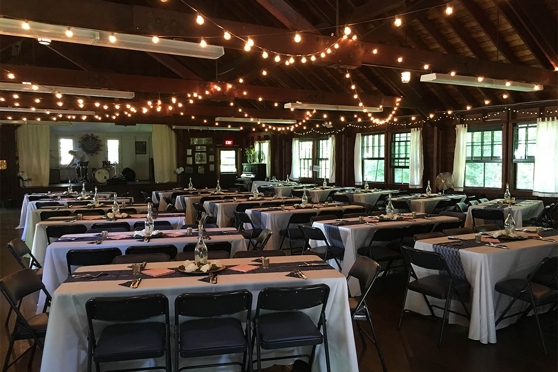 A large banquet hall has been added to the property by the DAR.