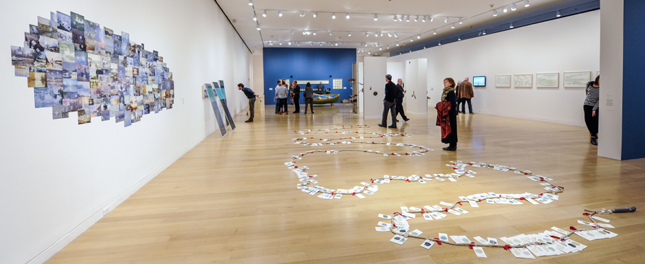 Installation view of Walden, revisited, 2014. Photo by Clements Photography and Design, Boston.