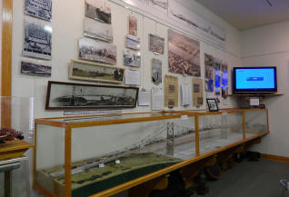 The museum includes a model of the Silver Bridge and information about the bridge collapse.