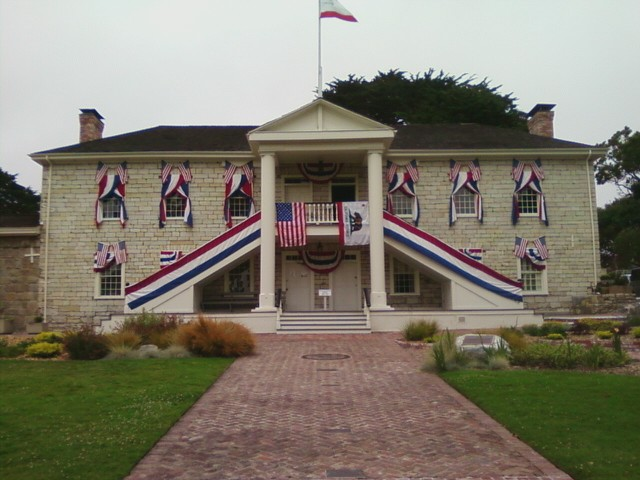 Colton Hall today. Decorated during anniversary of California statehood