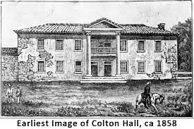 Colton Hall as it looked in 1858.
