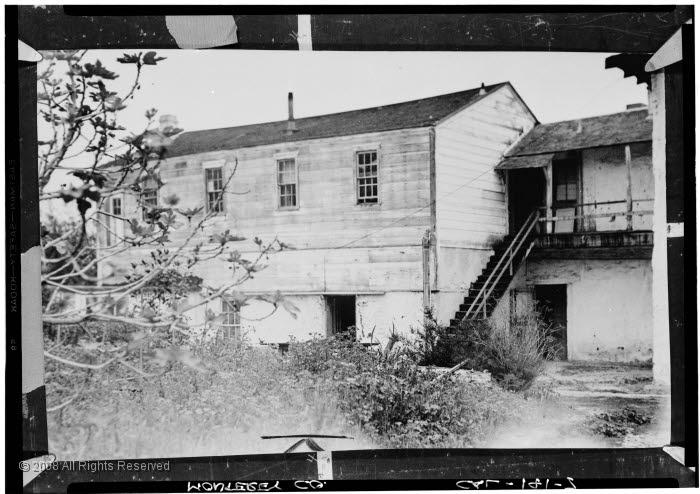 undated black and white photo of hotel/house