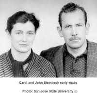 Steinbeck with his wife Carol. circa late 1930s