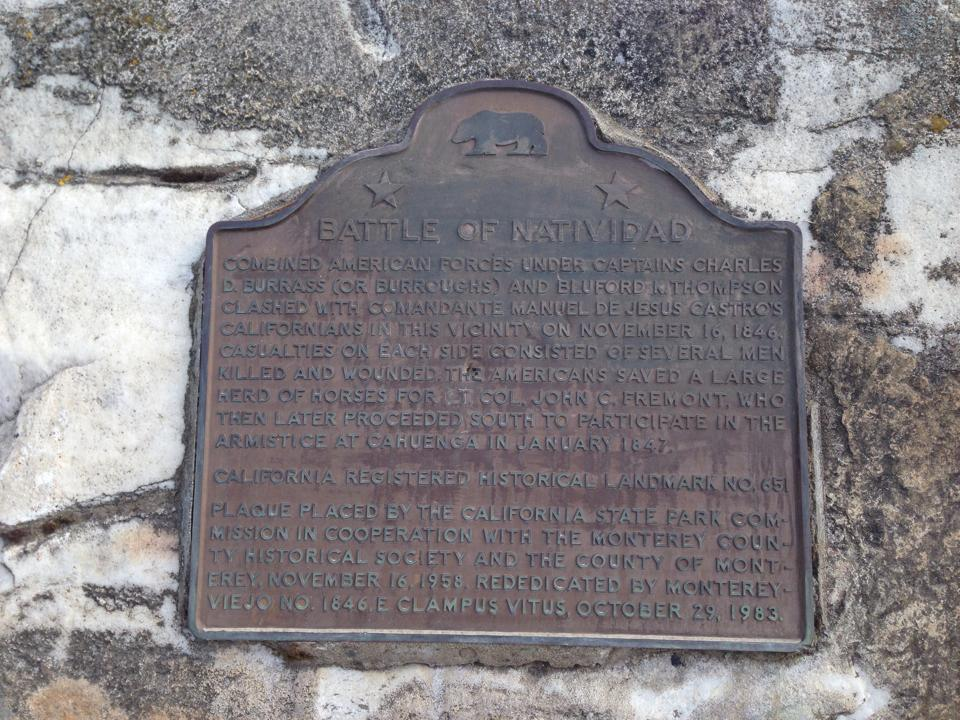 Marker for Battle of Natividad