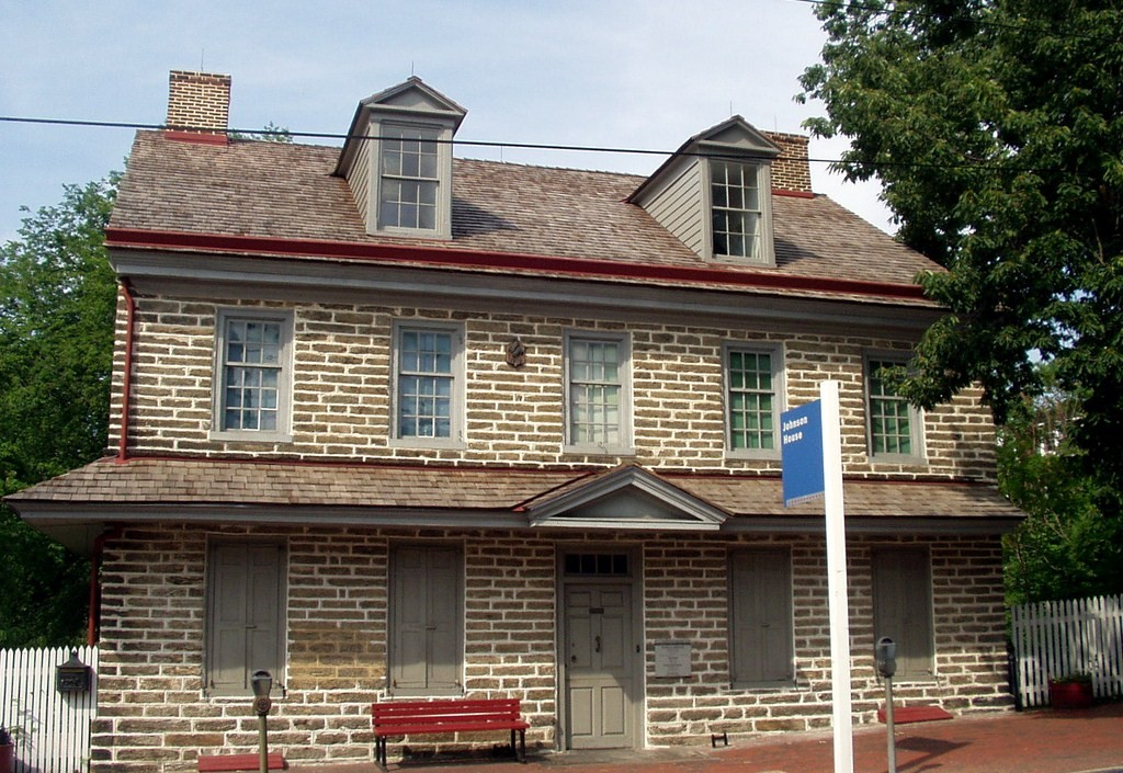 John Johnson stone house in Philadelphia