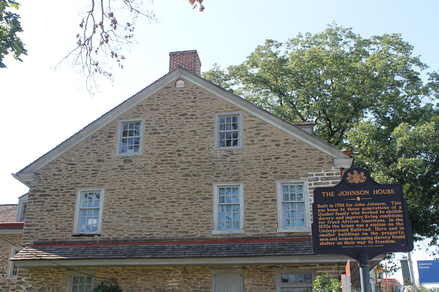 John Johnson House with historical marker