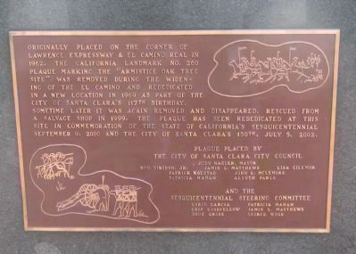 Plaque for Oak tree site
