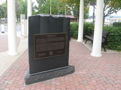 Newer marker for Battle of Santa Clara. Located at address posted for this entry.