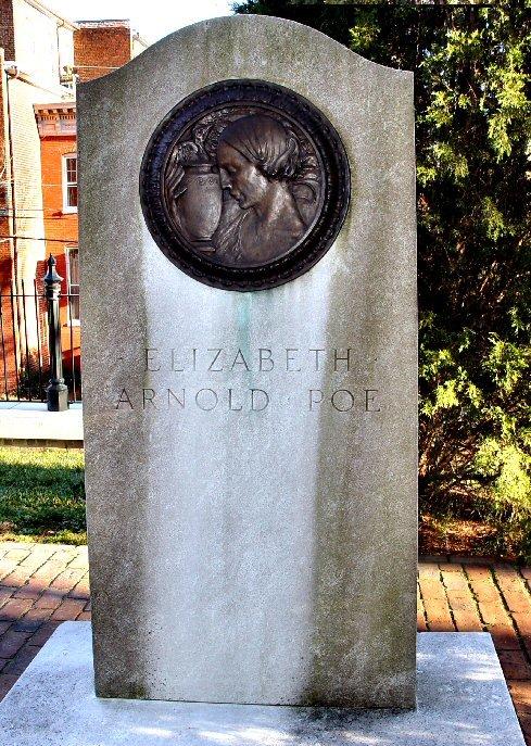 "Headstone for Elizabeth ""Eliza"" Arnold Poe, mother of Edgar Allan Poe"