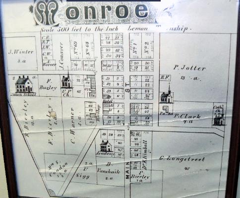 Map of early Monroe, Ohio.