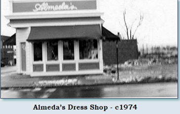 This is the 1910 house as a dress store in 1974.