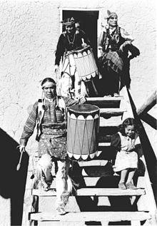 San Ildefonso dancers 1942