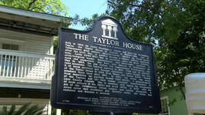 The Taylor House plaque