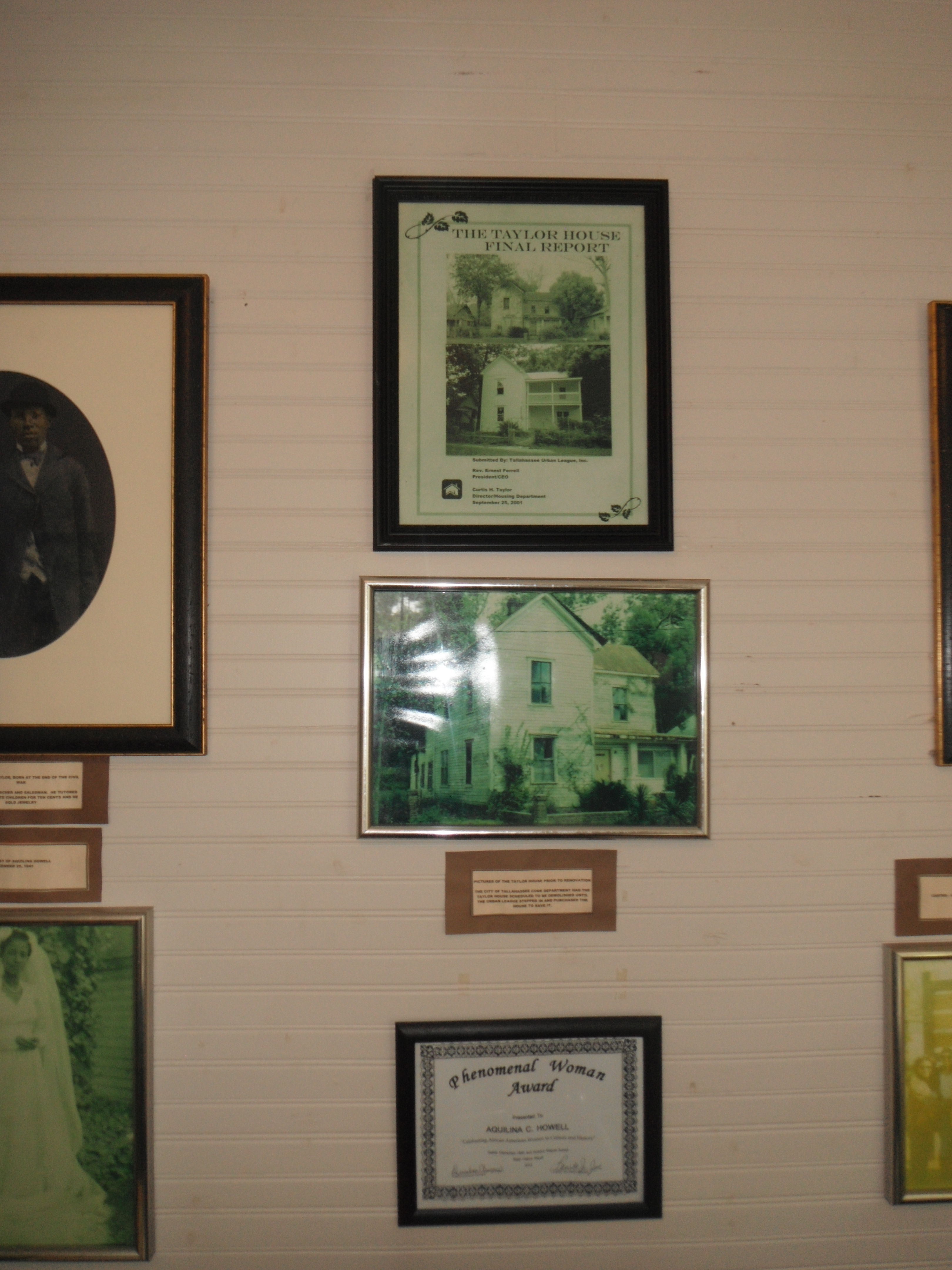 Some of the photographs in the Taylor House Museum
