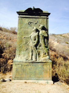 Memorial in battle field park site