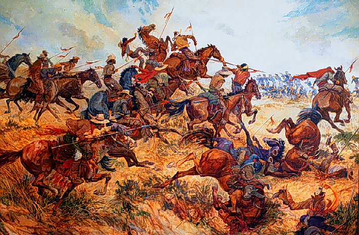 Artist rendition of battle