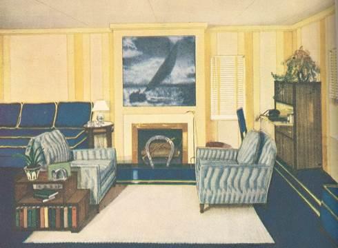 Second Floor Family Room: Good Housekeeping Magazine interiors