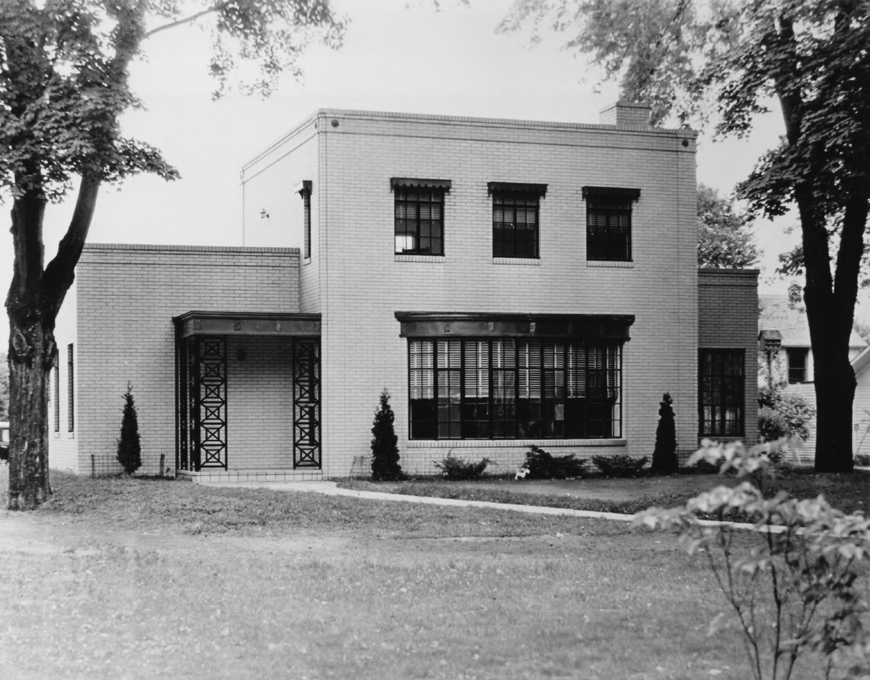 The Ensign-Seelinger House in Huntington, WV soon after it was constructed circa 1933-35
