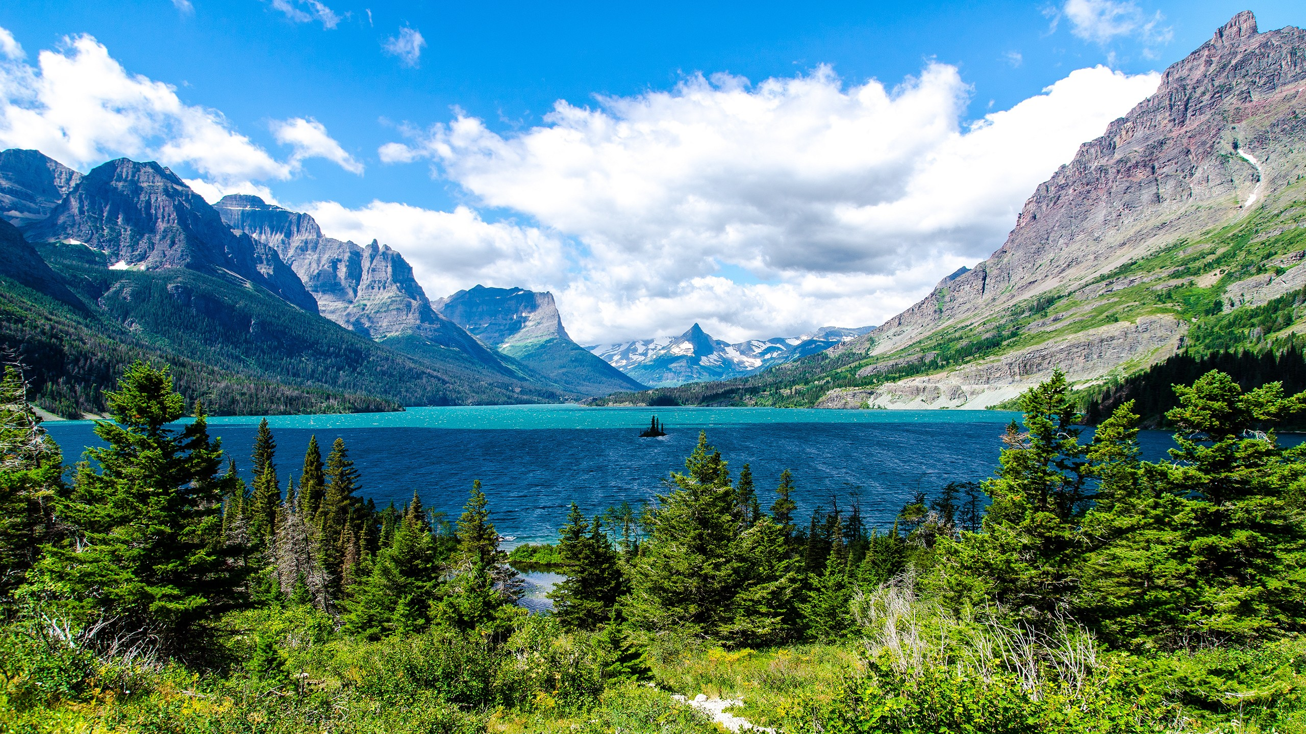 Glacier National Park was established in 1910.
