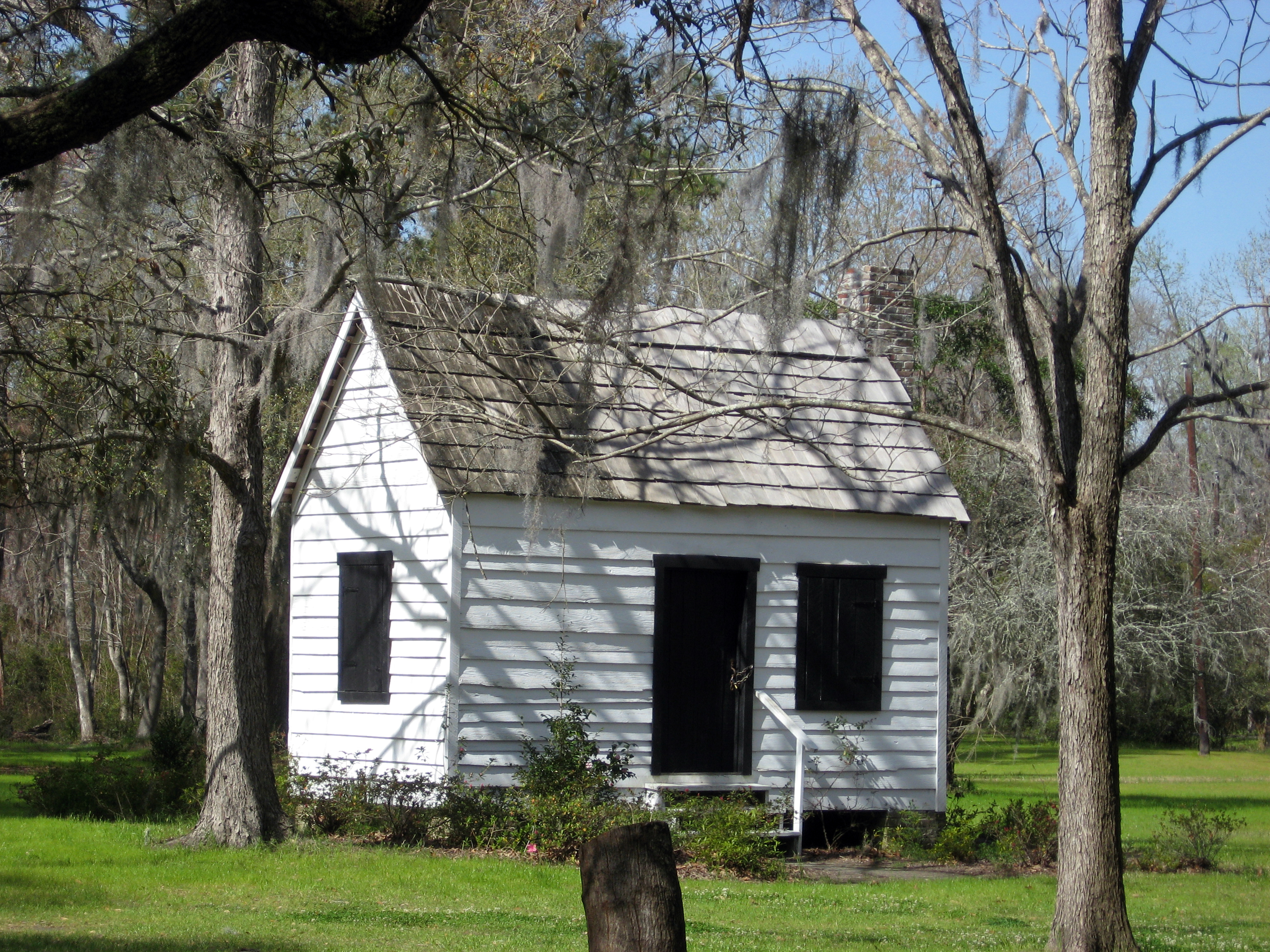 The Magnolia Plantation Slave Quarters.