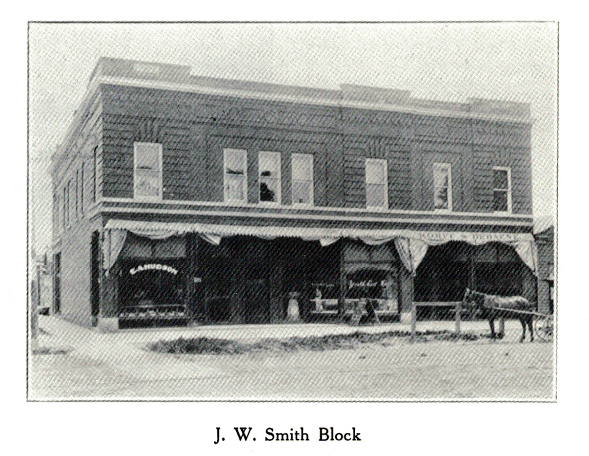 James Wilson Smith/Crissman Block, west elevation, 1907