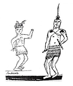 1830s sketch of Luiseno Indians by Pablo Tac. Possibly a resident of the Mission San Luis Ray de Francia area, where the Luiseno went during Spanish and Mexican rule of California.