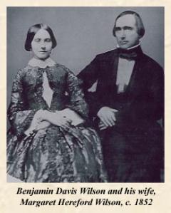 Benjamin Wilson and wife circa 1852