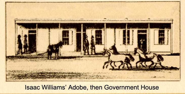 Sketching of Williams Adobe after his death when it became a government building