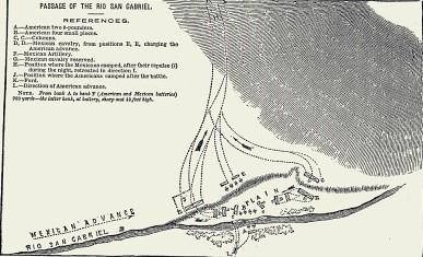 After-battle sketch detailing how battle commenced.