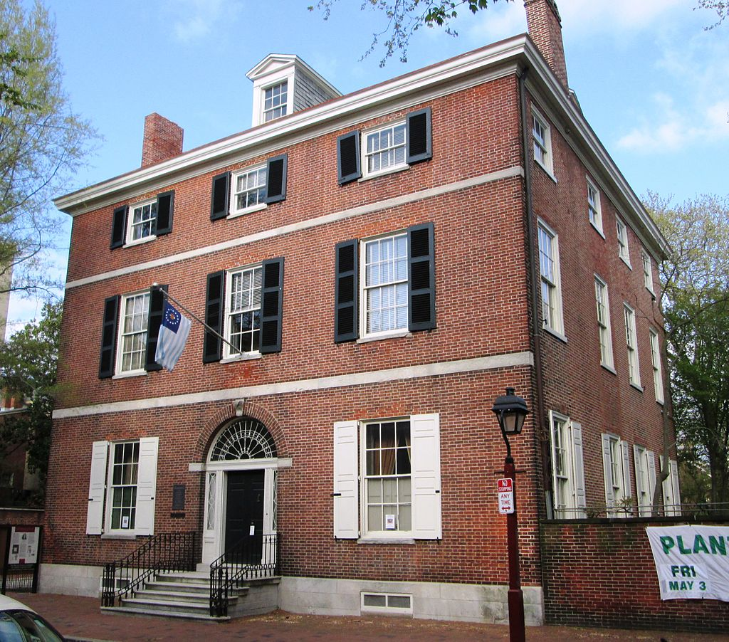 A view of the Physick House.