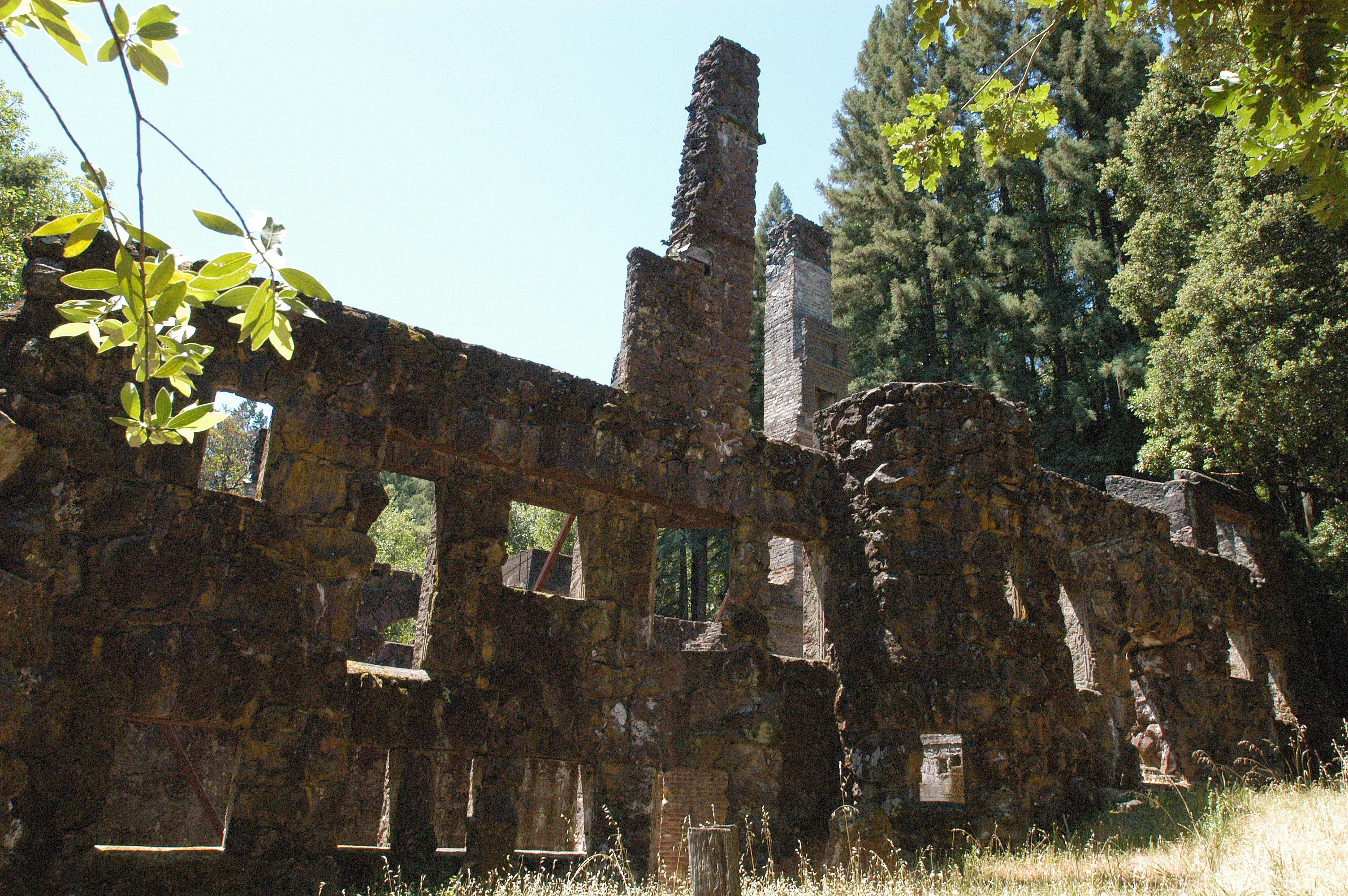 The Wolf House ruins