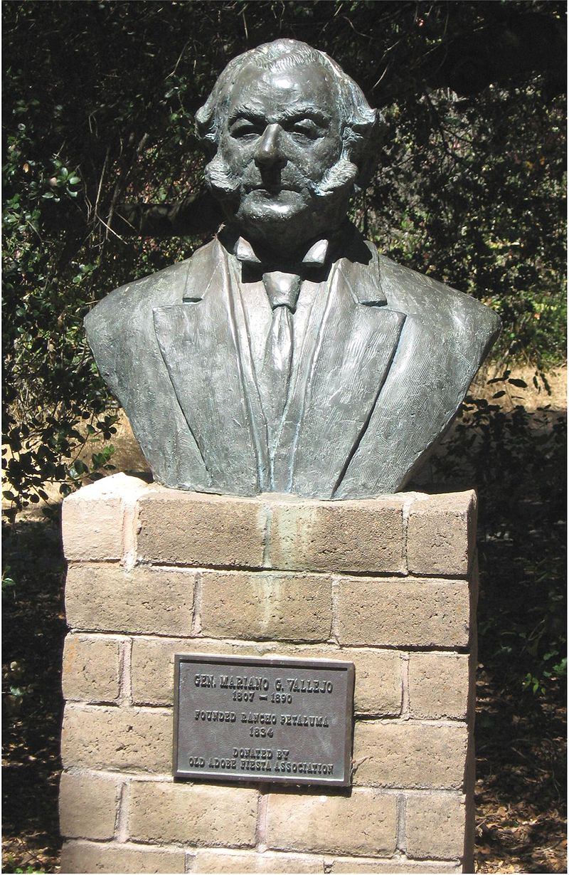 Bust of Mariano Vallejo located at the park