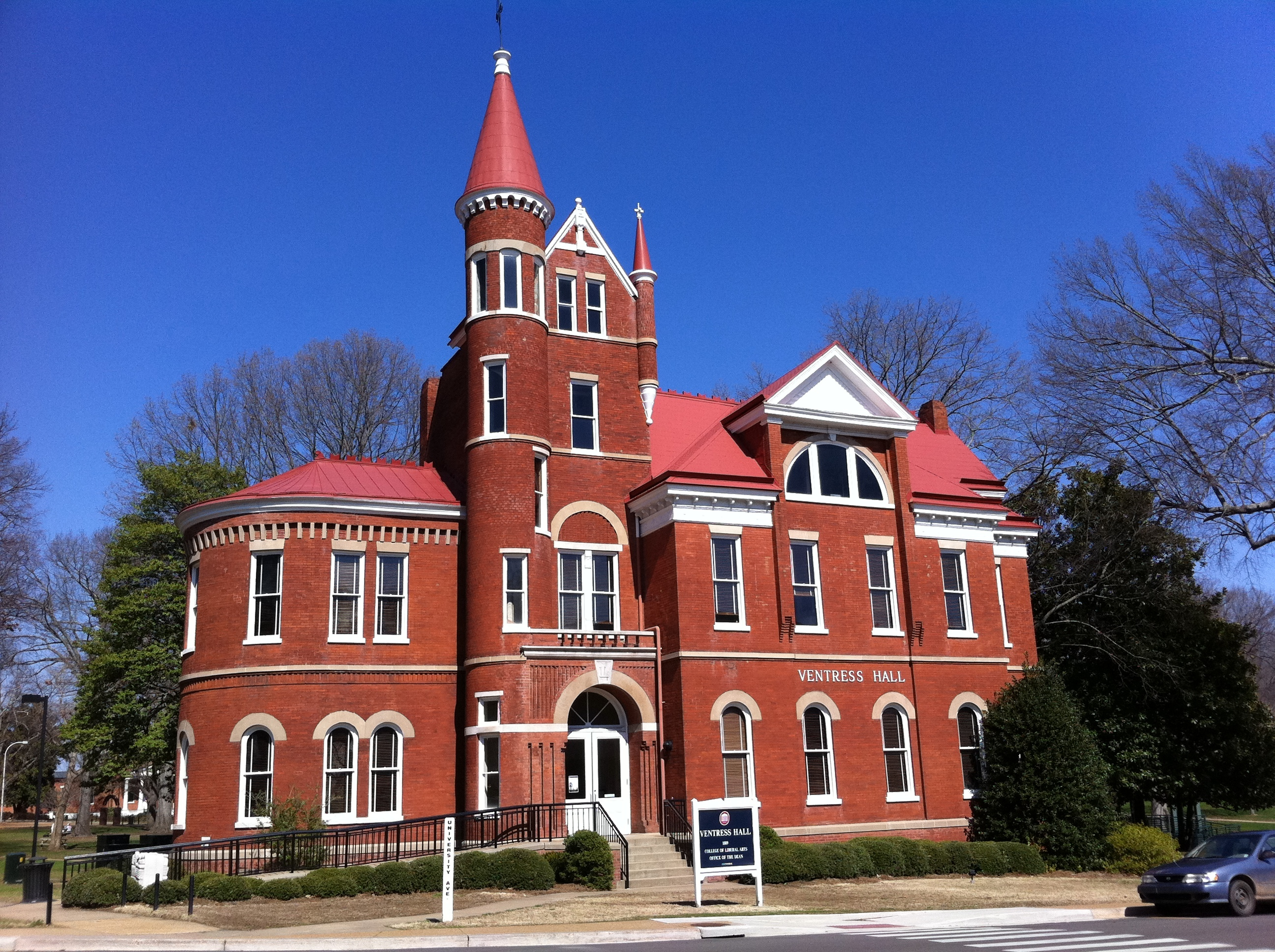 Ventress Hall was built in 1889 and currently houses the University of Mississippi's College of Liberal Arts and Sciences